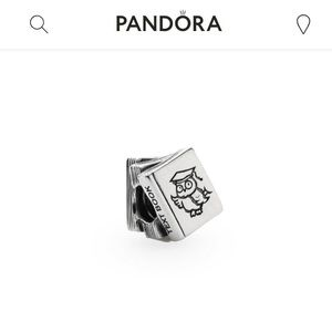 Pandora Stack of Books Study Charm